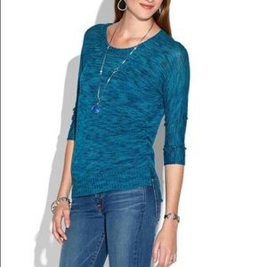 Lucky Brand teal sweater